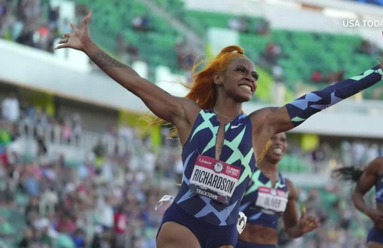 U.S. sprinter Richardson banned from Olympic 100m