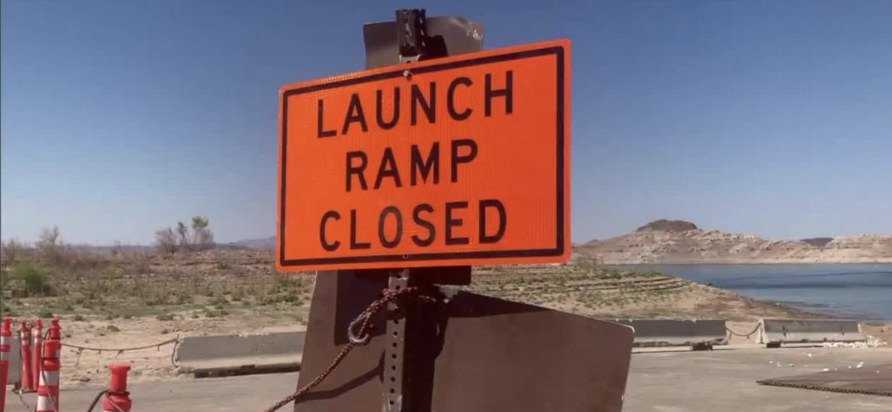 Ramp closures at Lake Mead during the Fourth of July weekend