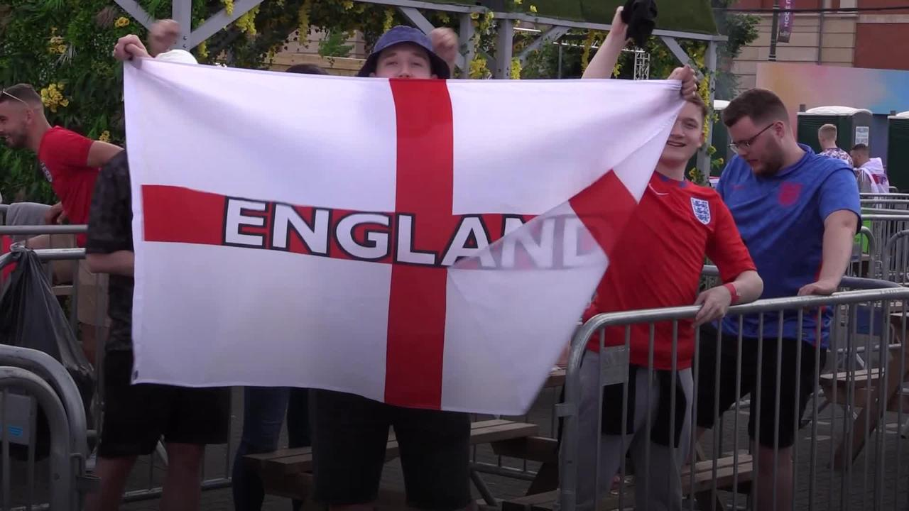 Fans hoping for glory as England takes on Ukraine in Euros showdown