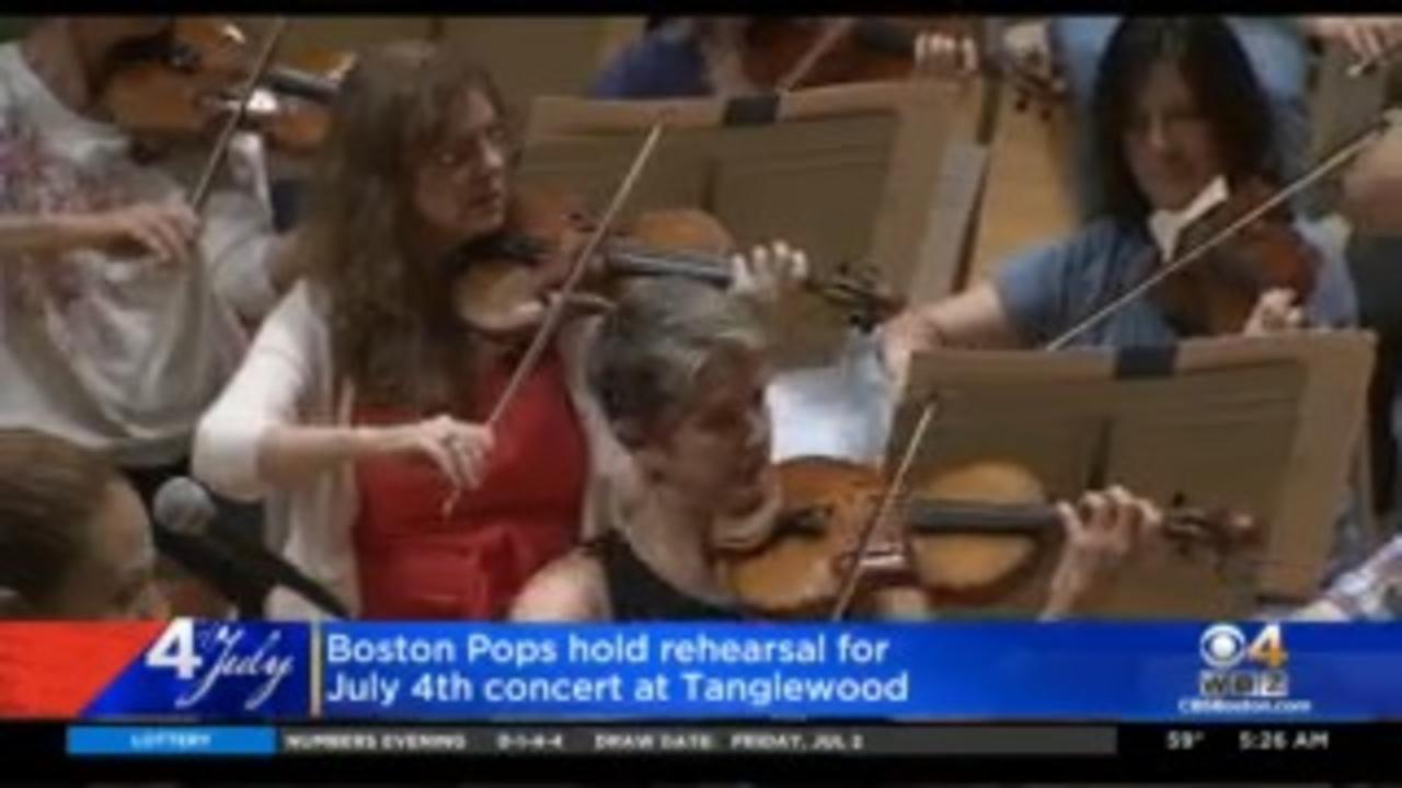 Boston Pops Hold Rehearsal Before Fourth Of July Tanglewoods Performance