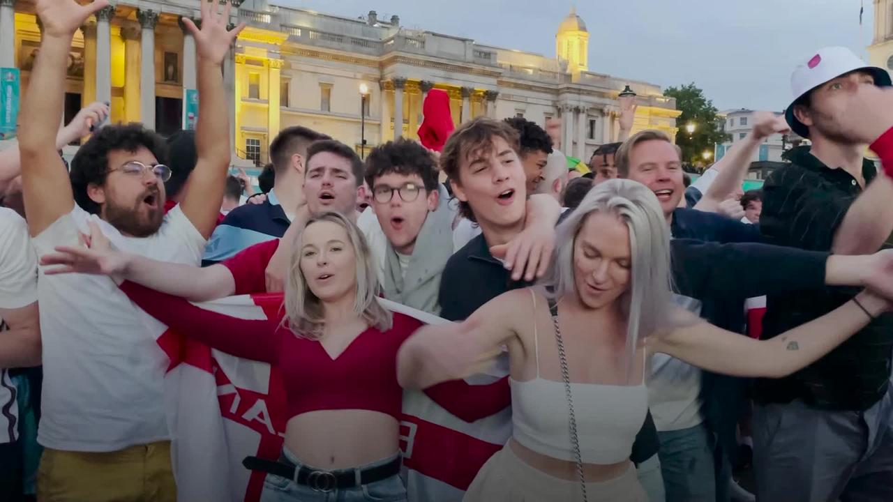 England fans propelled into state of euphoria after 4-0 win over Ukraine