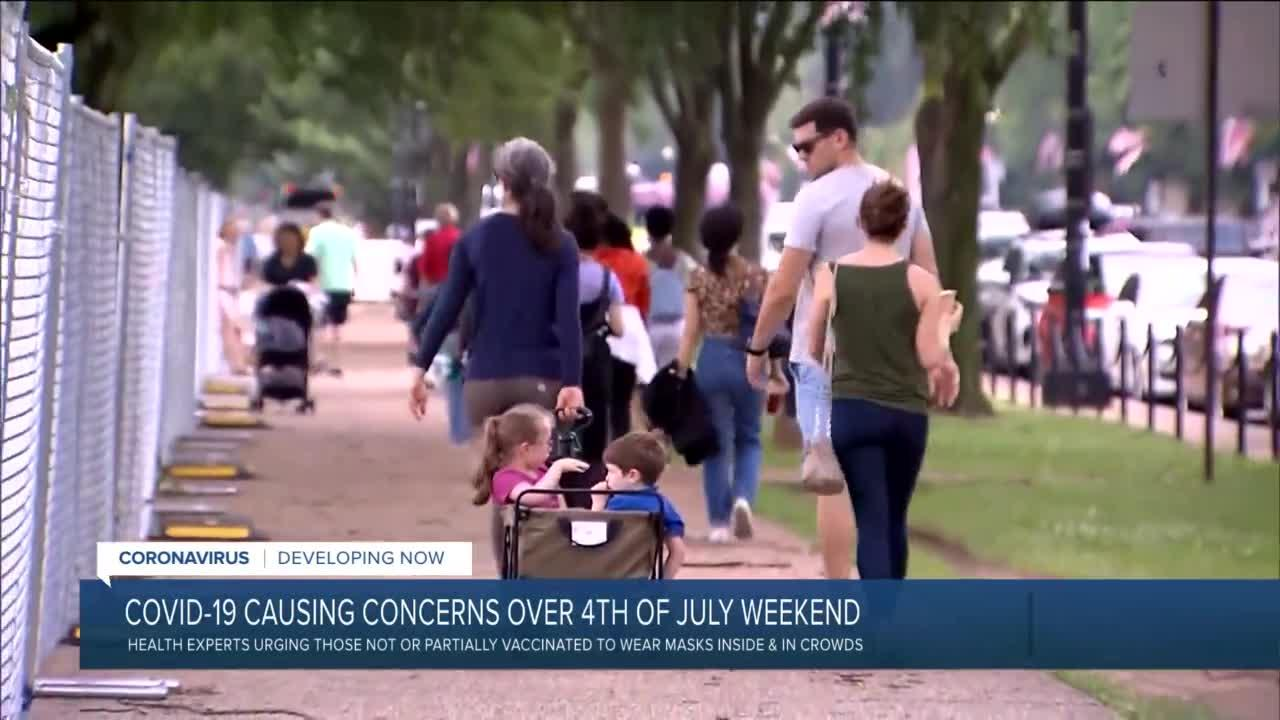 Health experts have warning for unvaccinated, partially vaccinated people on Fourth of July holiday weekend