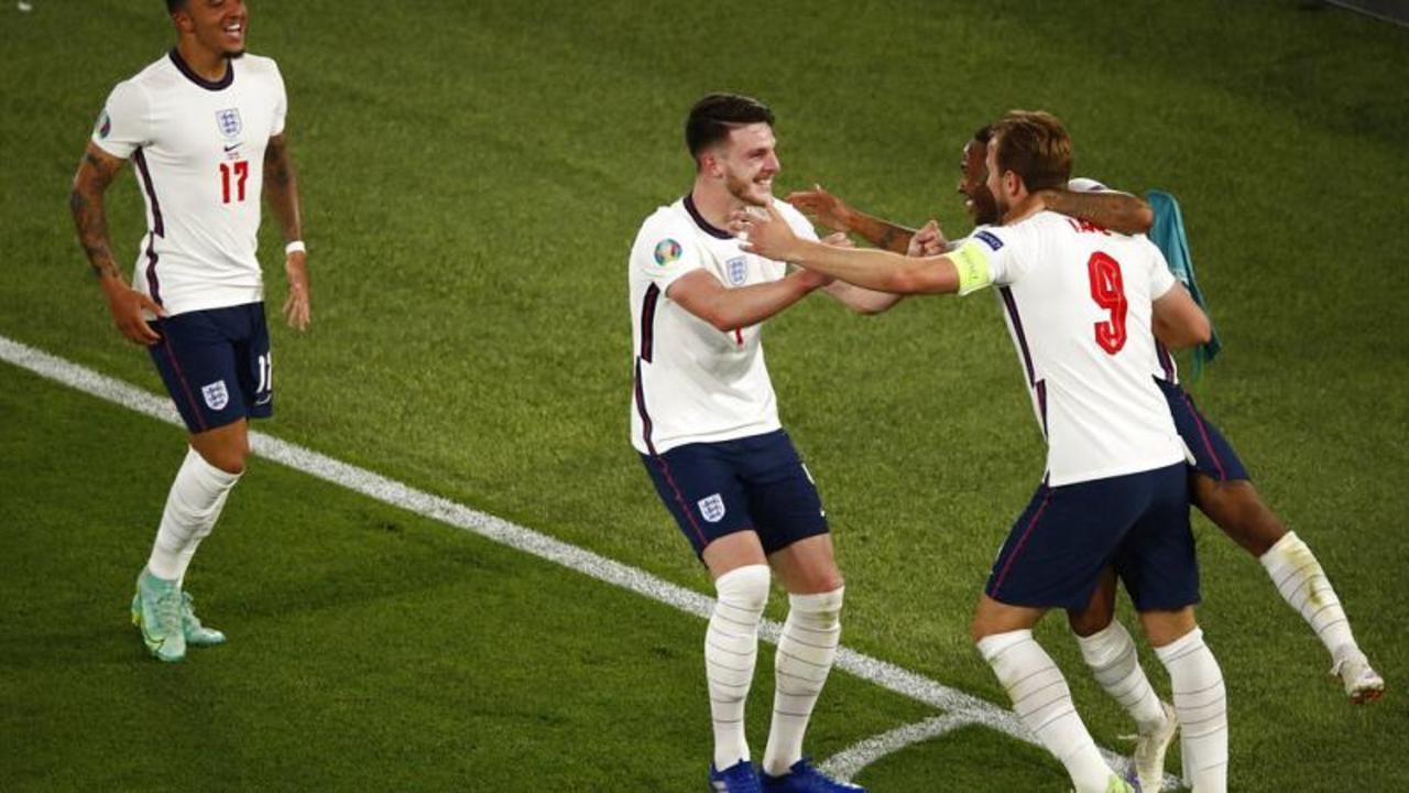 England will take on Denmark in semi-final at Wembley after Ukraine rout
