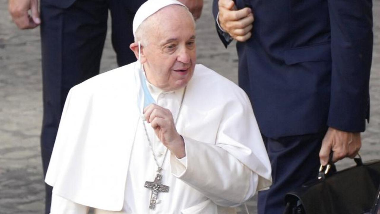 Pope Francis goes into hospital for surgery on his large intestine