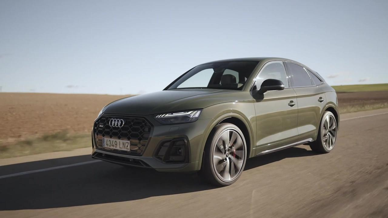 The new Audi SQ5 Sportback Driving in Spain