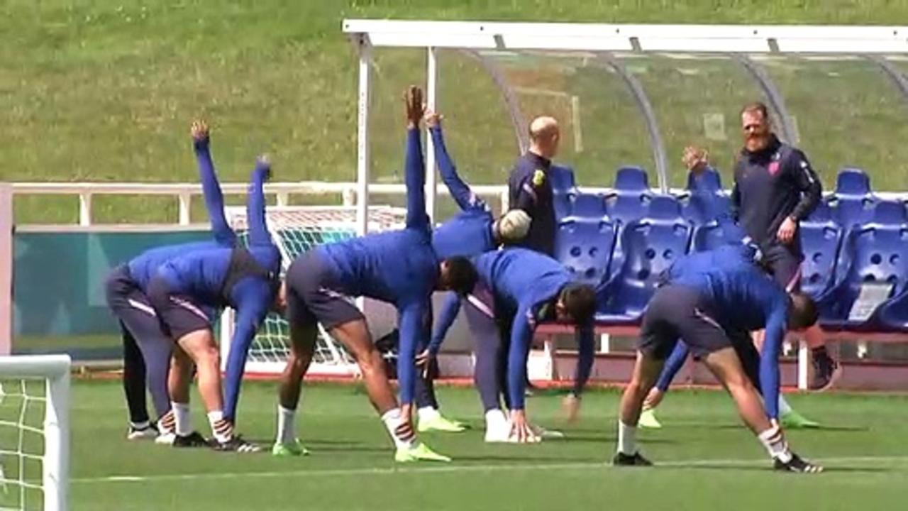 Euro 2020: England squad train ahead of semi-final
