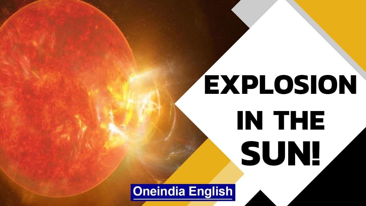 Solar flare causes radio blackout over Atlantic Ocean | Explosion on Sun's surface | Oneindia News