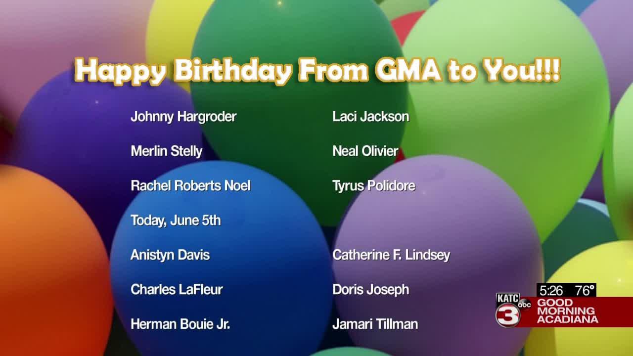 Today's Birthdays 7/5/2021