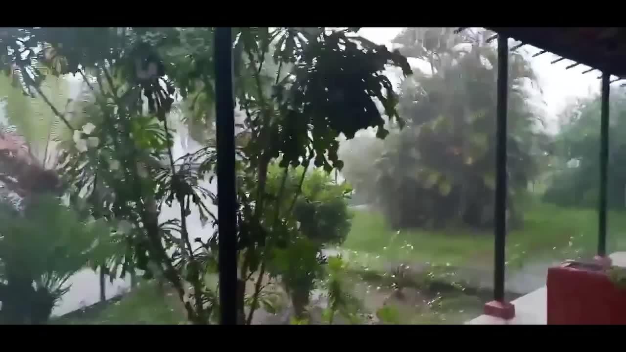 Elsa's torrential rains slam Cuba