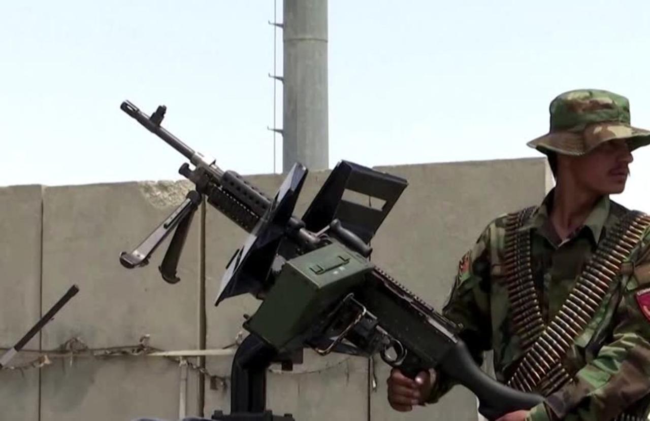 Afghan forces guard Bagram airbase