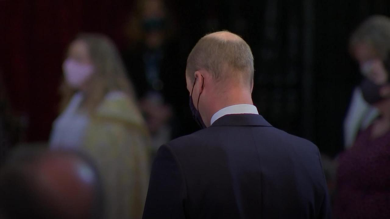 William and Prime Minister at St Paul's service during 'emotional day' for NHS