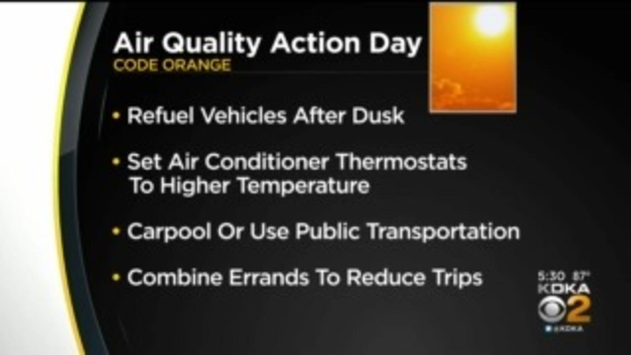 Code Orange Air Quality Action Day Issued For Pittsburgh Area Tuesday
