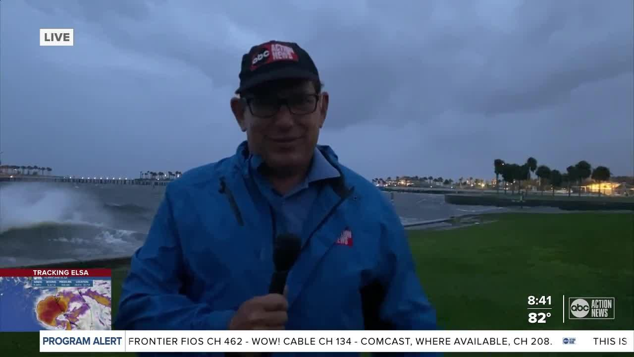Rough waters and high winds hit St. Pete pier