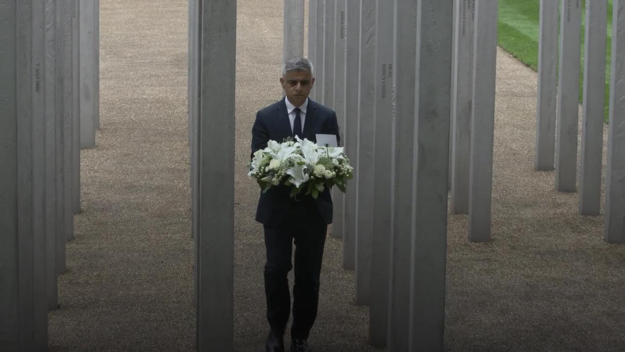 Mayor Sadiq Khan marks 16th anniversary of July 7 London bombings