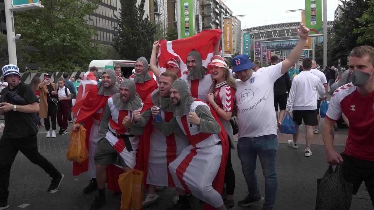 England fans go wild at Wembley