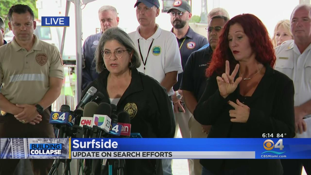 WEB EXTRA: Miami-Dade Mayor Gives Wednesday Evening Update On Surfside Condo Collapse