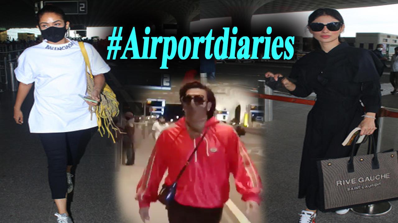 Ranveer Singh, Mira Rajput, Mouni Roy slay the airport look