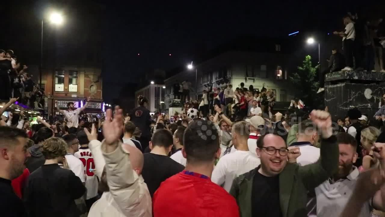 Carnage on streets of Manchester after England semi-final victory