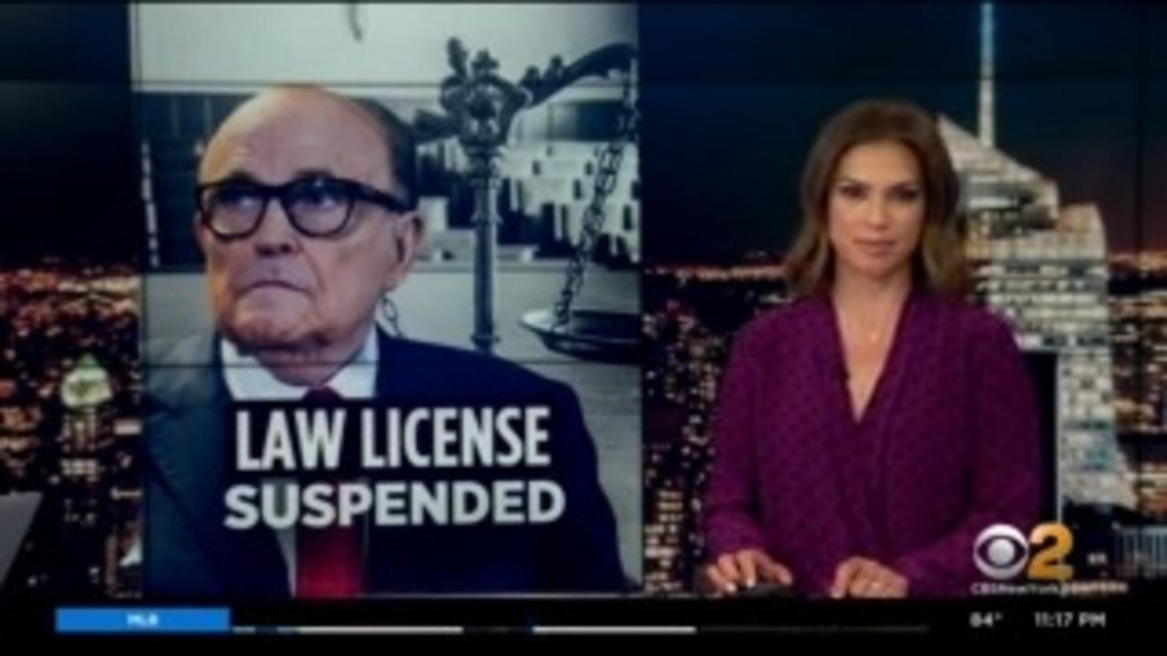 Rudy Giuliani's Law License Suspended In Washington DC