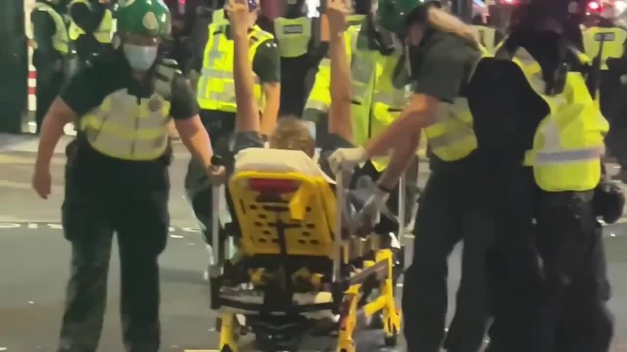 Riot police, England fans clash following landmark Euro 2020 semifinal win over Denmark