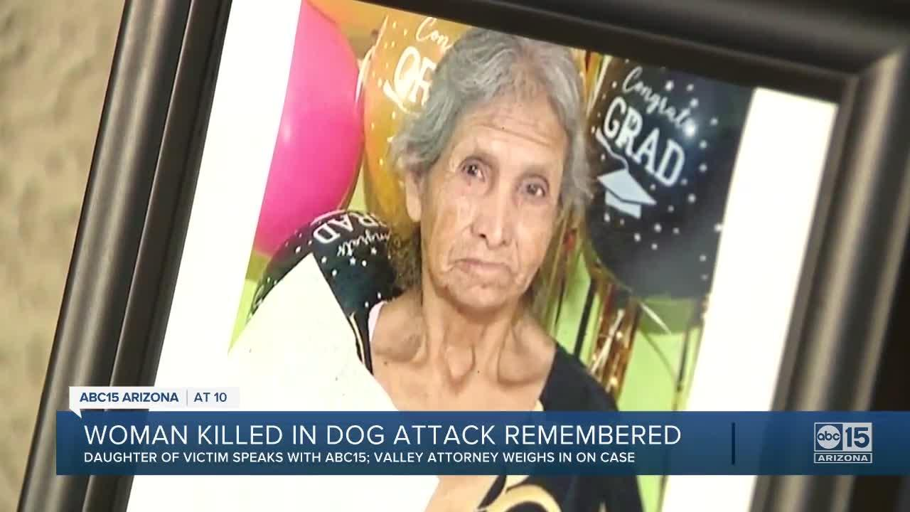Valley woman killed in dog attack remembered