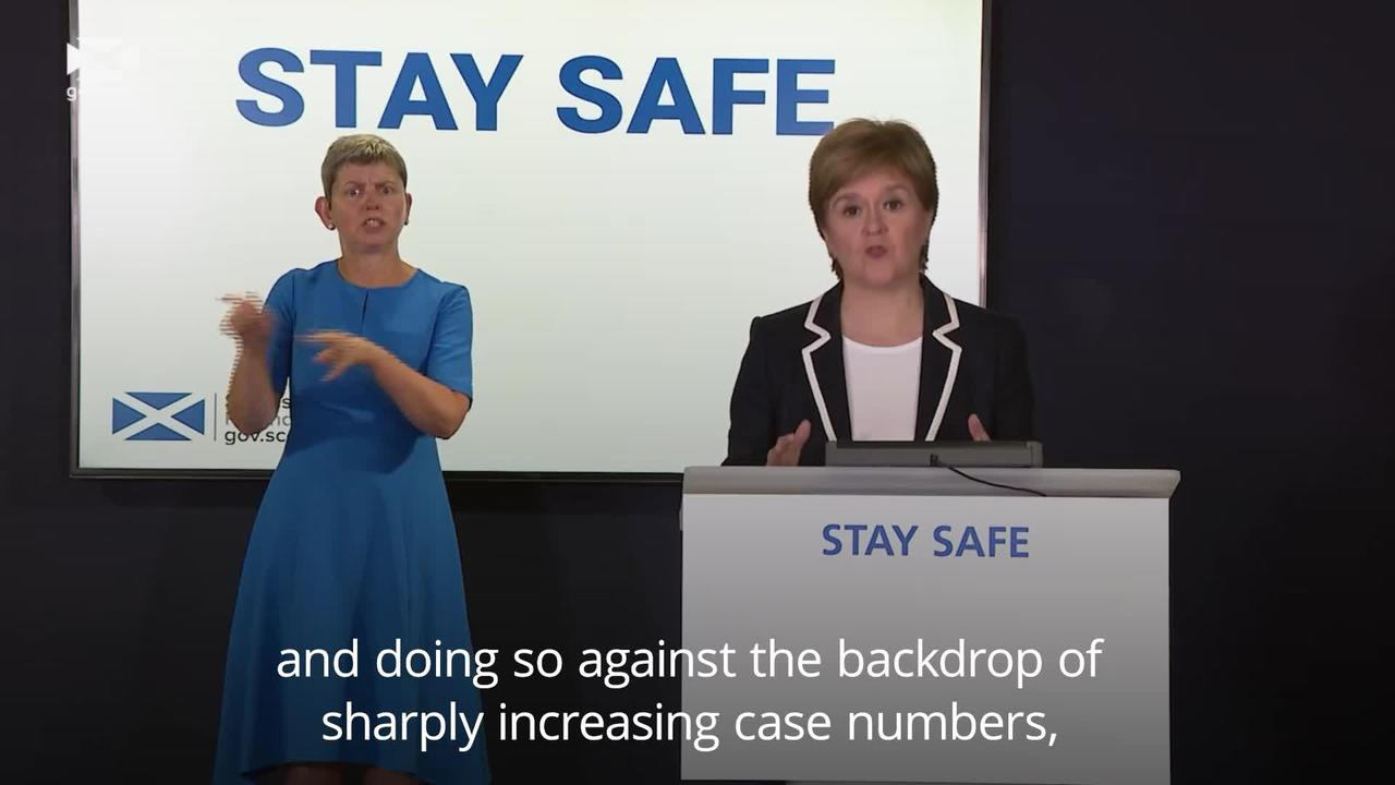PM's Covid approach 'an exception', says Sturgeon in plea for caution
