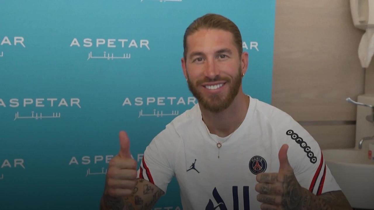 Sergio Ramos signs for Paris St Germain