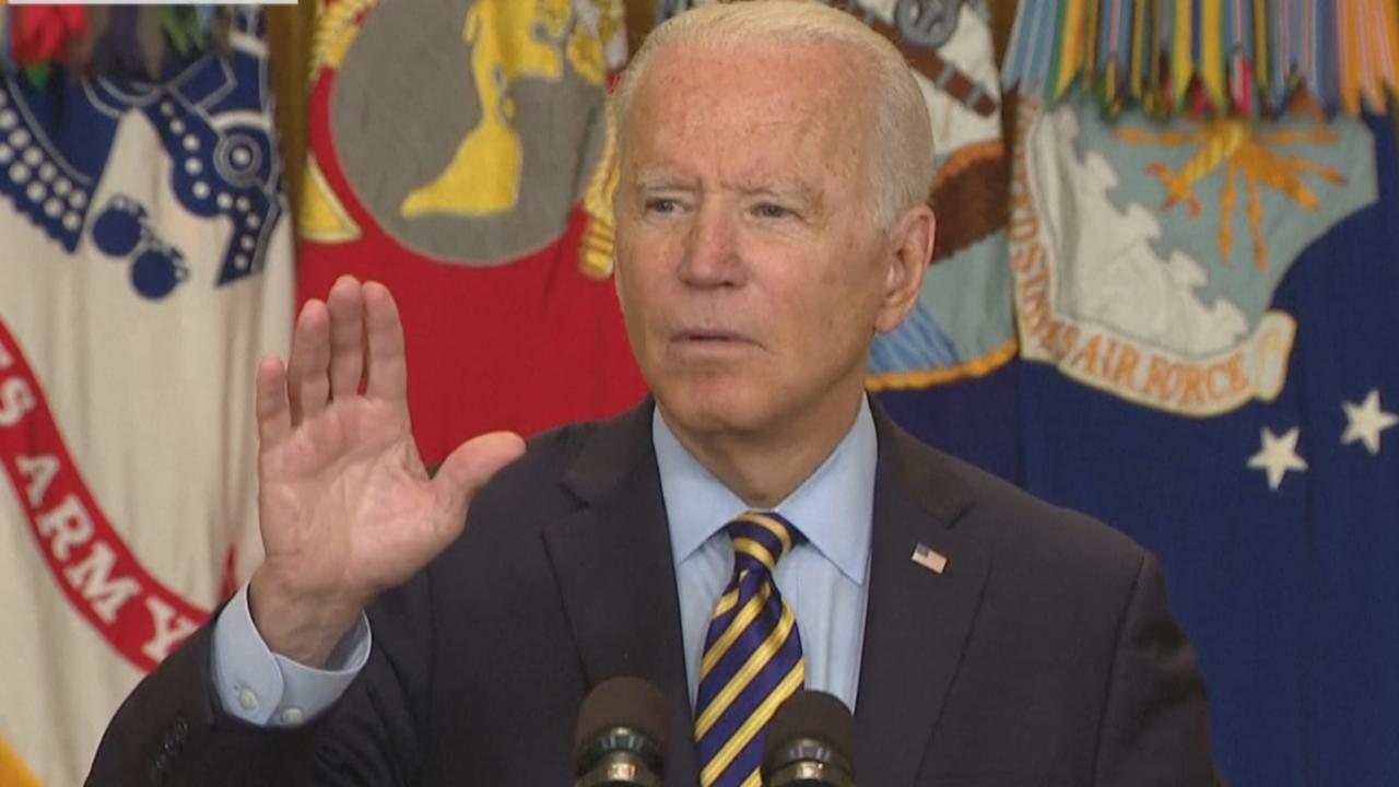 Biden addresses Afghanistan pullout, Taliban advances