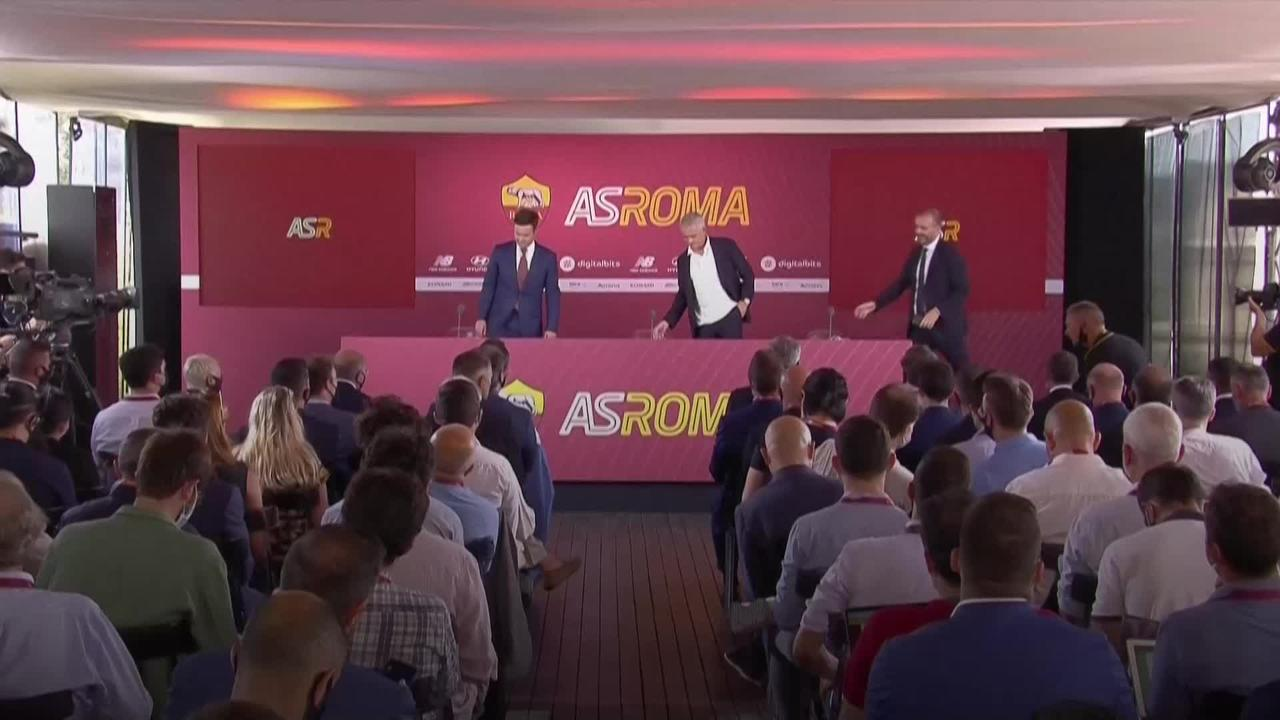 Jose Mourinho asks for time as he is unveiled as Roma manager