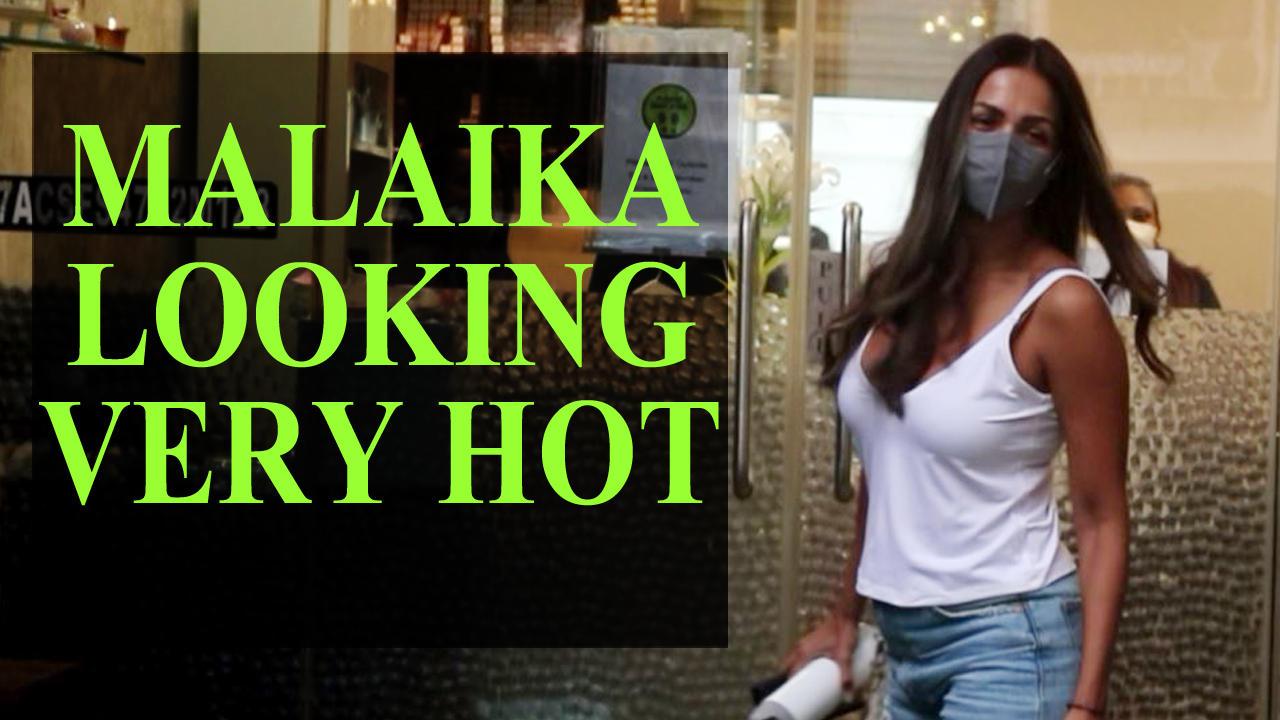 Malaika Arora Spotted Outside Salon In Bandra