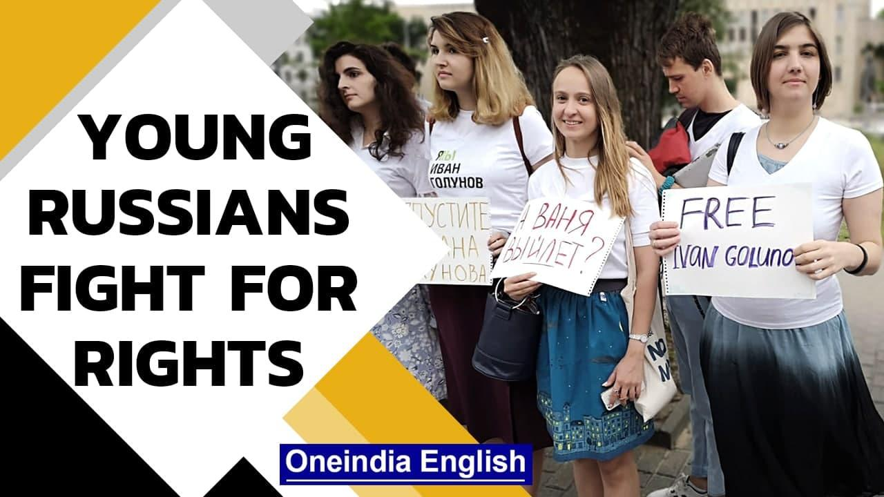 Young Russians fight for press freedom | Youth protest against govt | Oneindia News