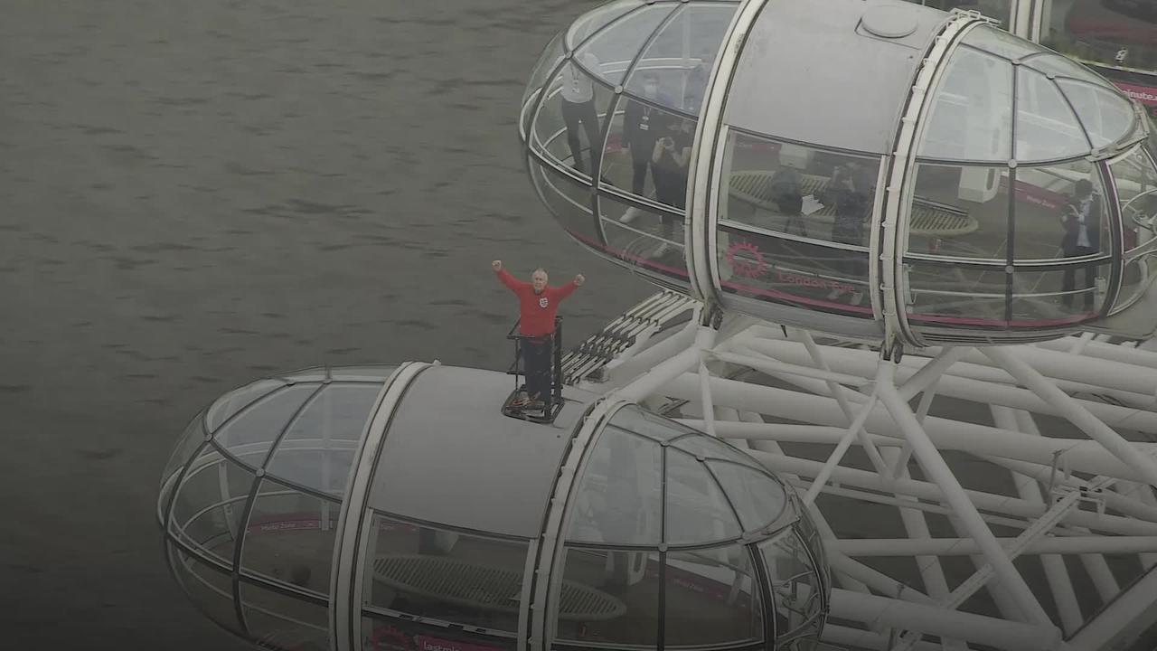 Sir Geoff Hurst backs England from atop the London Eye