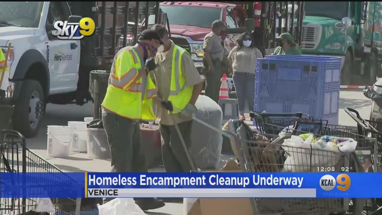 Cleanup Of Venice Homeless Camps Continues, Deadline Extended