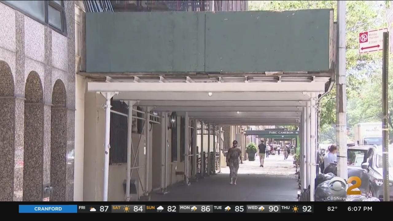 Manhattan Borough President Pressures City DOB To Do Something About 15-Year-Old Sidewalk Shed