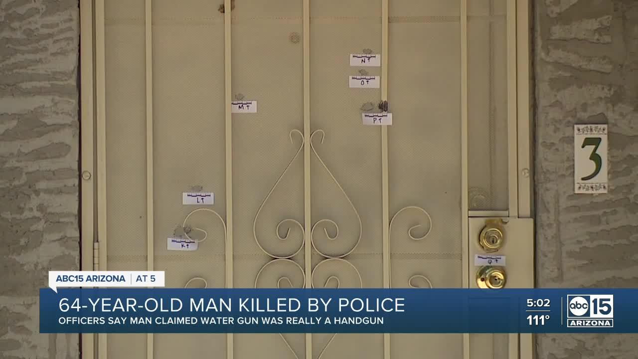Man with water gun shot, killed by officers in Phoenix