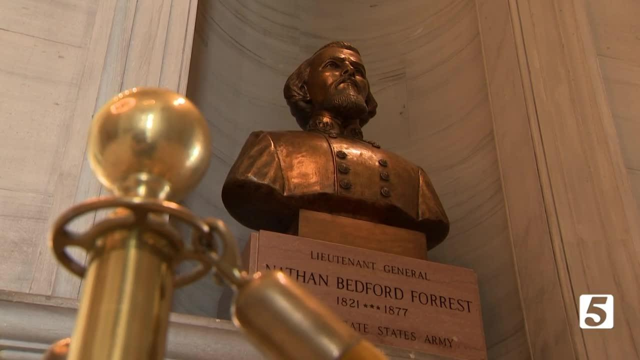 Today marks first day Forrest bust can be removed from Capitol