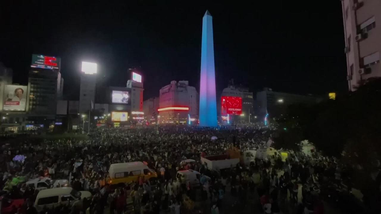 Thousands celebrate in Buenos Aires after Argentina win Copa America