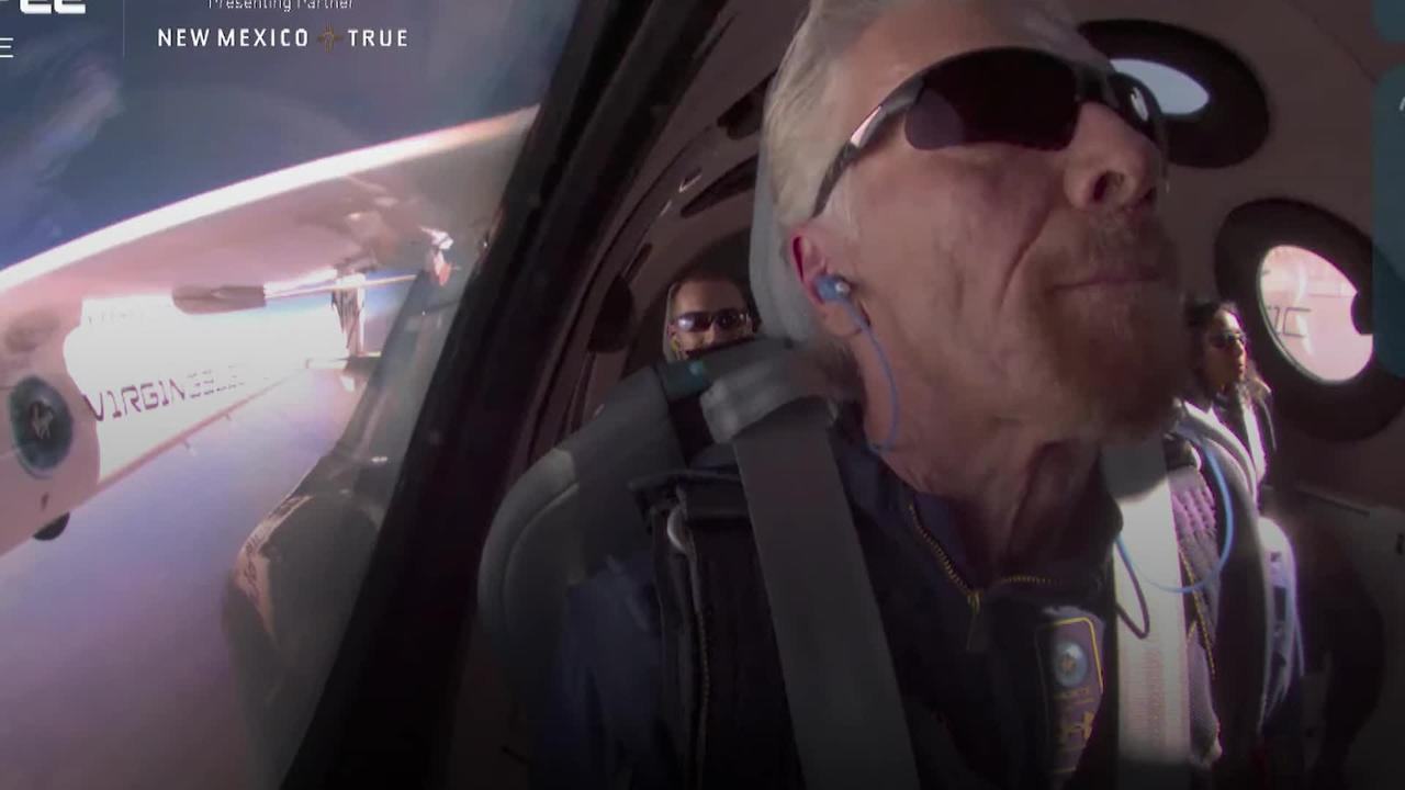 Branson hails 'experience of a lifetime' after flying to edge of space