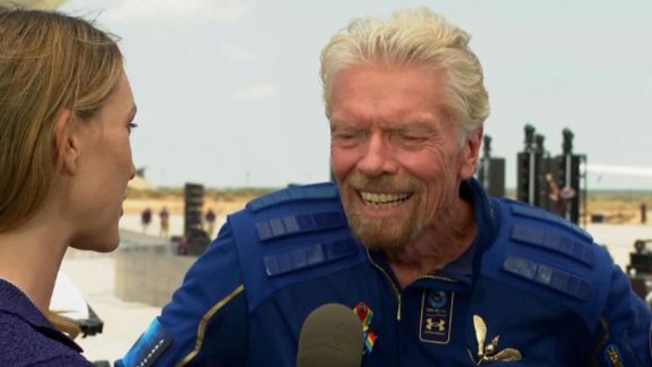 Branson's advice to Bezos after historic space flight