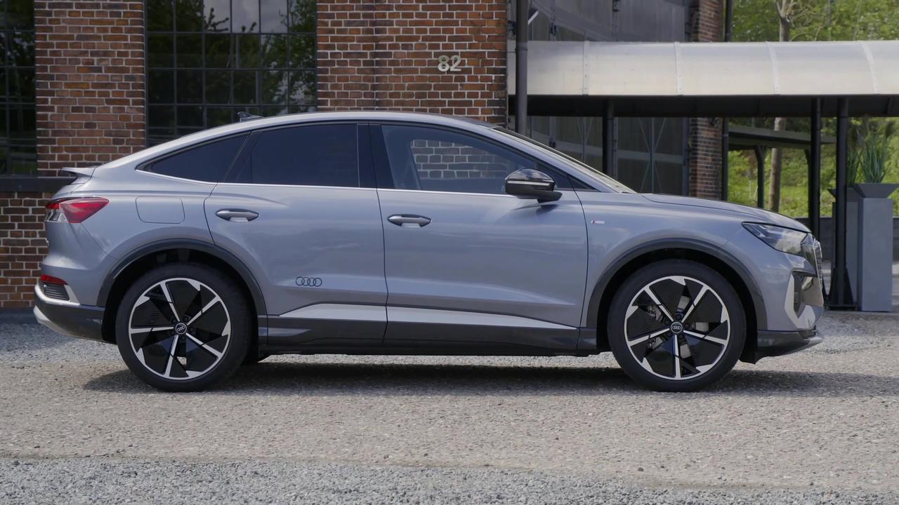 Audi Q4 Sportback e-tron Design in Geyser blue
