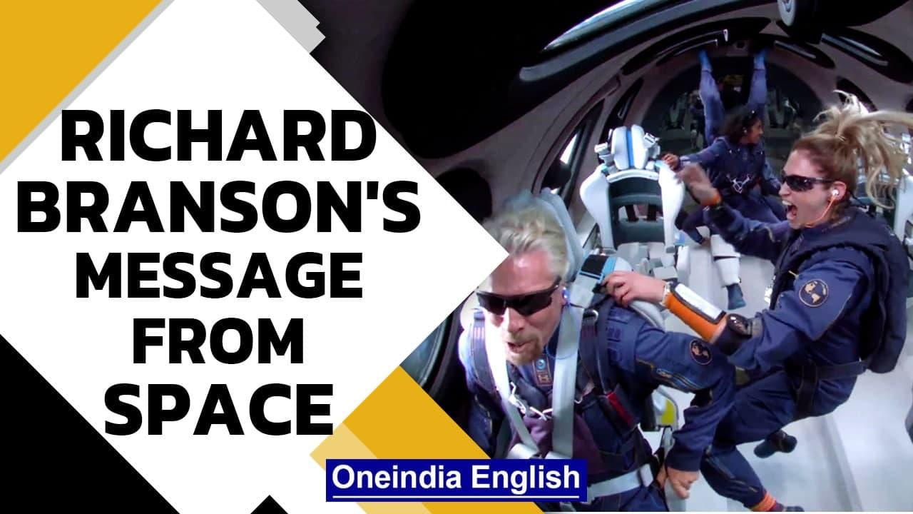 Richard Branson reaches space, paves way for space tourism | Watch his message | Oneindia News