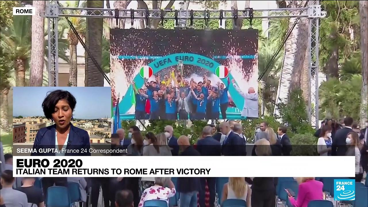 Victorious Italy return home after spoiling England's Euro 2021 party