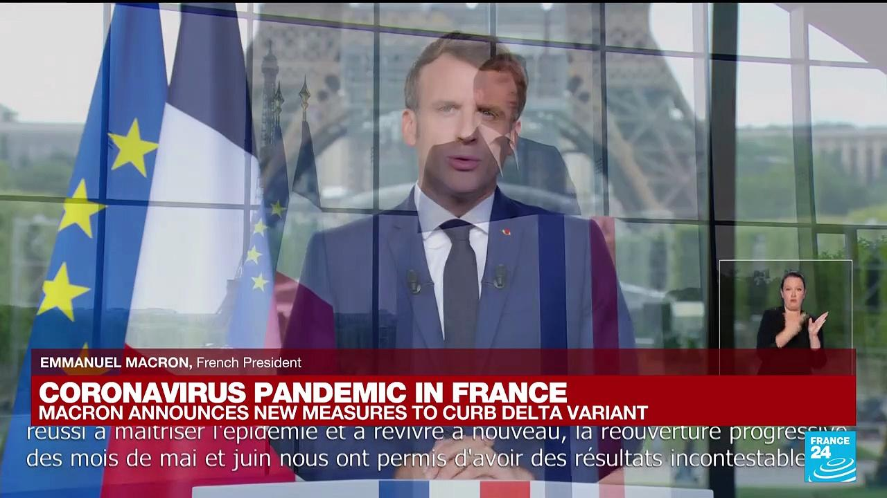 France's Macron addresses the nation as Covid-19 Delta variant surges