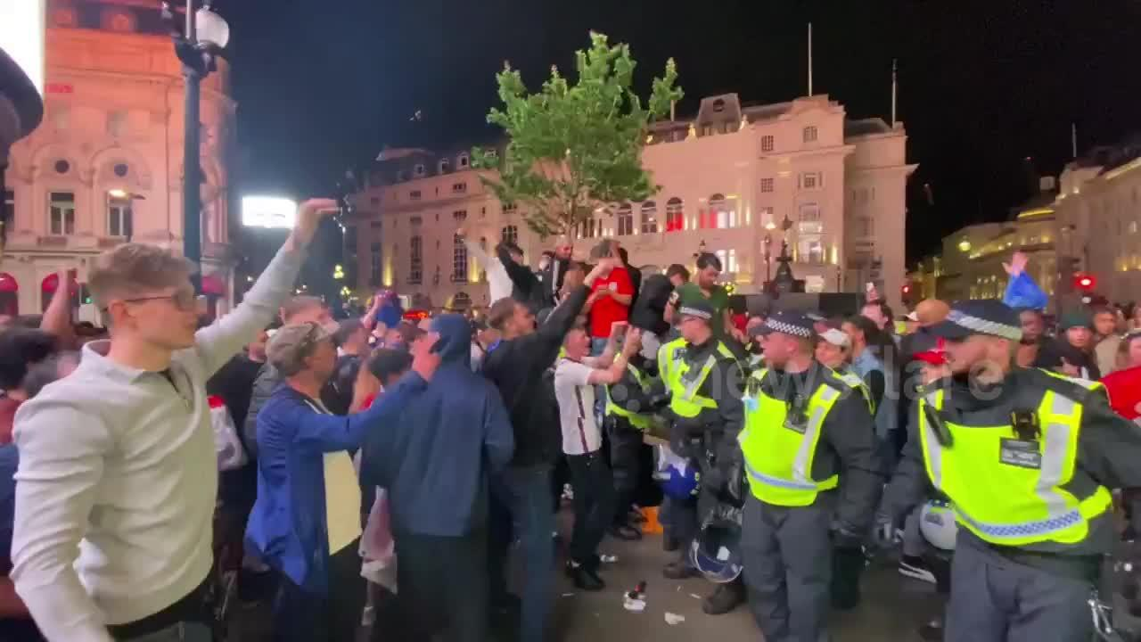 Police separate English and Italian fans as violence mounts in London