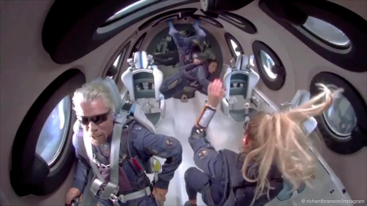 Richard Branson is first billionaire to blast into space