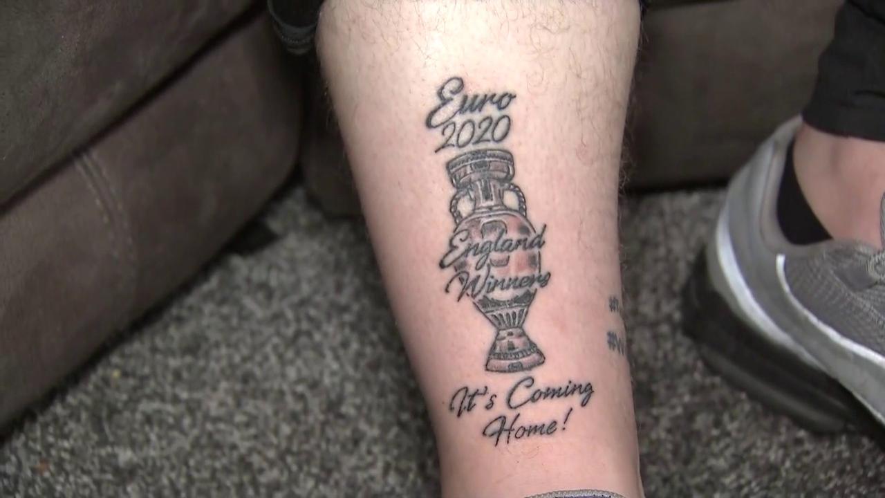 England fan gets Euro 2020 winners tattoo!
