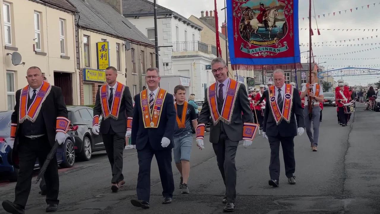 Twelfth of July parades take place across Northern Ireland