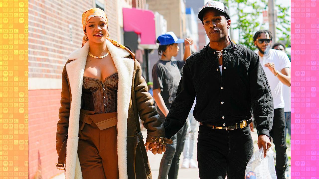 Rihanna, ASAP Rocky Share PDA On Set