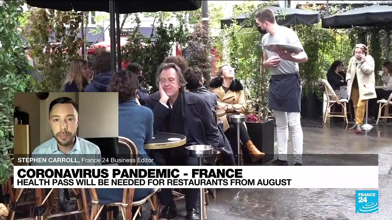 Health pass will be needed for French restaurants from August to combat Covid surge