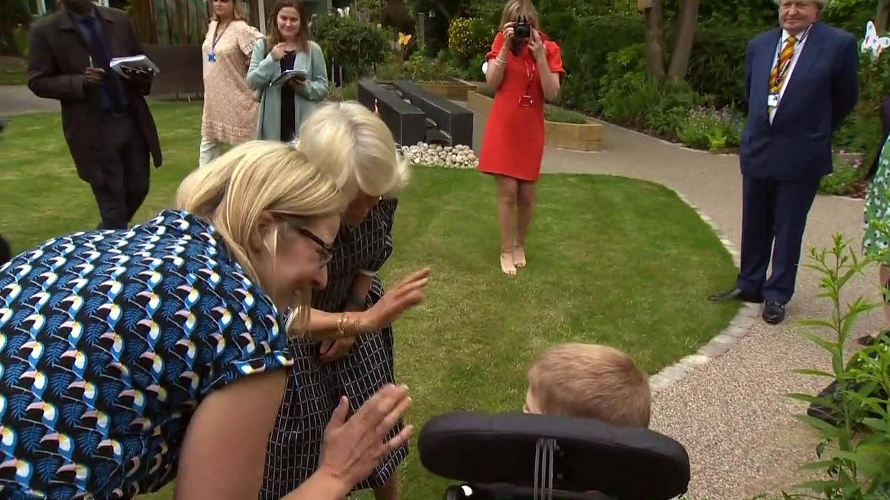 Camilla visits Helen & Douglas House hospice